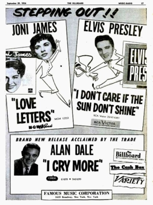 rca victor ads for elvis presley records in 1956 - Elvis – A
